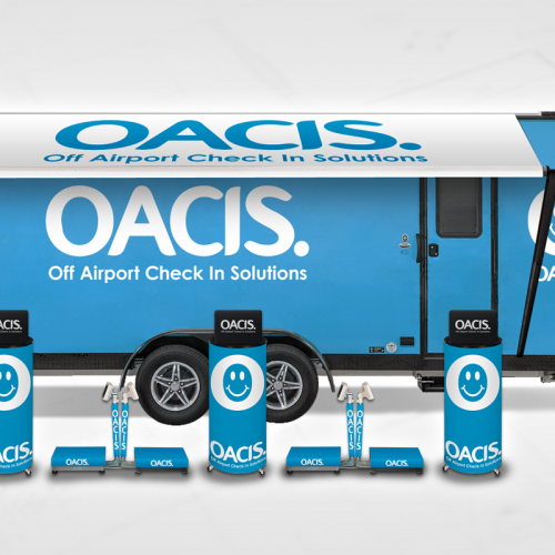 OACIS - Off Airport Check In Solution | Portable Pop Up